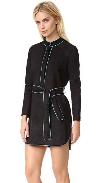 Cynthia Rowley Ultrasuede Belted Dress