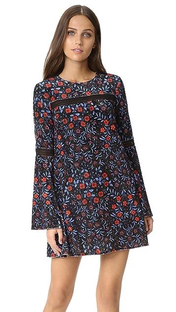 Cynthia Rowley Folky Floral Trapeze Dress