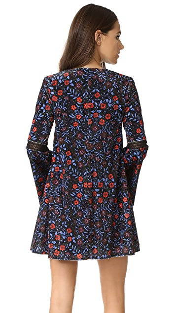 Cynthia Rowley Folky Floral Trapeze Dress