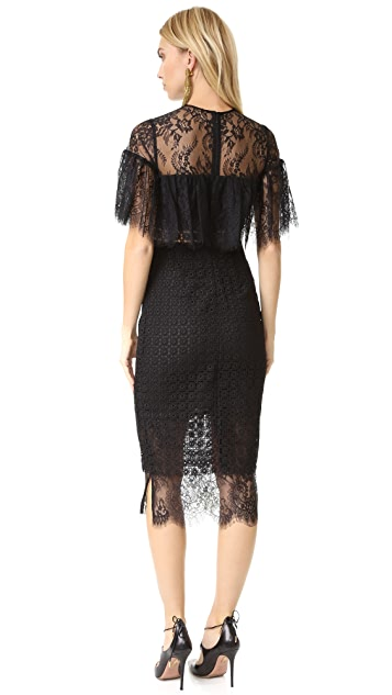 Cynthia Rowley Geo Lace Midi Dress