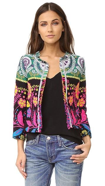 Cynthia Rowley Fringe Trim Jacket