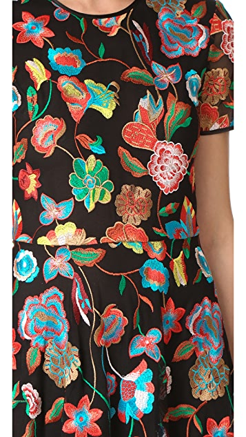 Cynthia Rowley Embroidered Tulle Dress