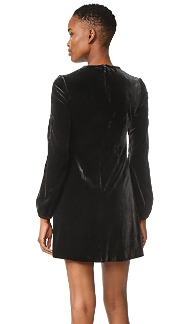 Cynthia Rowley Velvet Bell Sleeve Dress