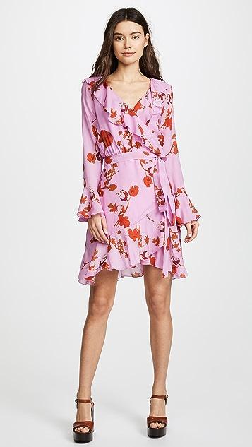 Cynthia Rowley Malibu Ruffle Mini Dress - Pink Poppy