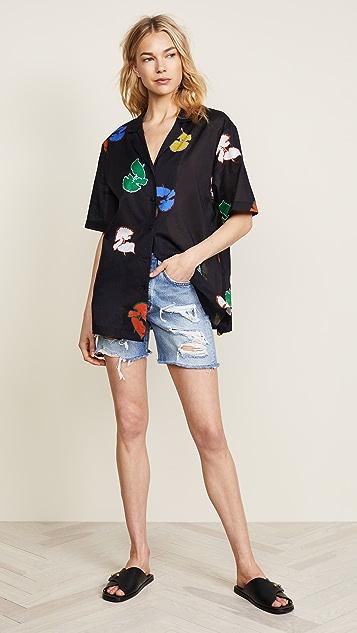 Cynthia Rowley Getaway Cabana Shirt