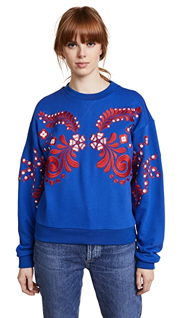 Cynthia Rowley Bleecker Embroidered Sweatshirt