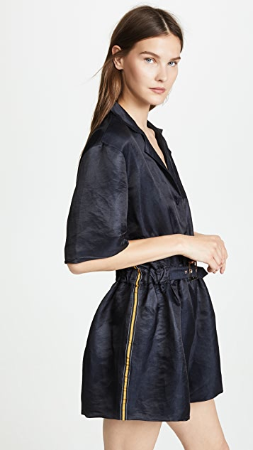 Cynthia Rowley Hudson Belted Romper