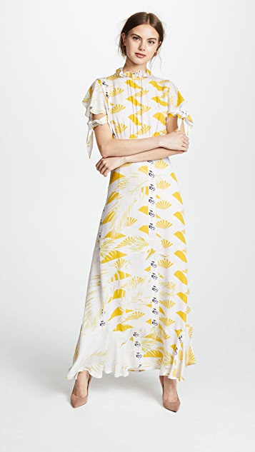 8ff8432ef6 Cynthia Rowley Talia Printed Silk Dress