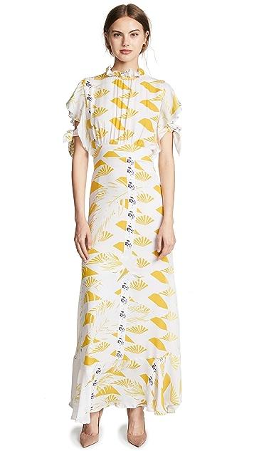 Cynthia Rowley Talia Printed Silk Dress