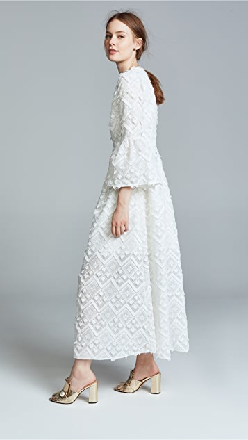 Cynthia Rowley Romy Lace Bell Sleeve Dress