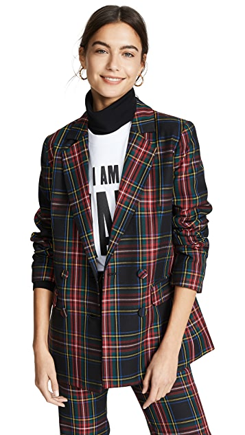 Cynthia Rowley Plaid Blazer