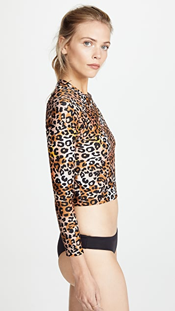Cynthia Rowley Sasha Cropped Rash Guard