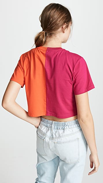 Cynthia Rowley Cali York Embroidered Crop T-Shirt