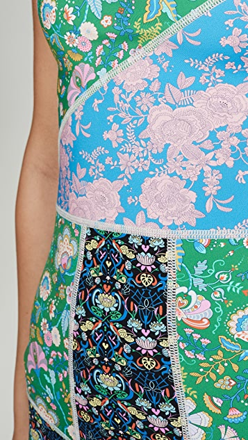 Cynthia Rowley 波纹氯丁橡胶直筒连衣裙