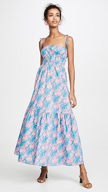 Cynthia Rowley Azores Smocked Maxi Dress