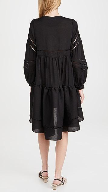 Cynthia Rowley Roma Lace Trim Dress