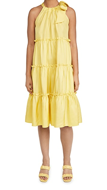 Cynthia Rowley Silk Halter Dress