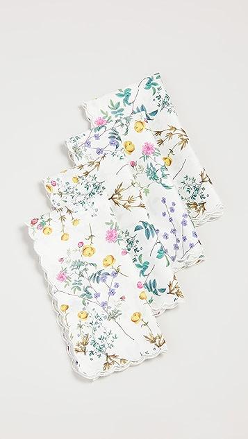 Cynthia Rowley Scallop Embroidered Edge Napkins