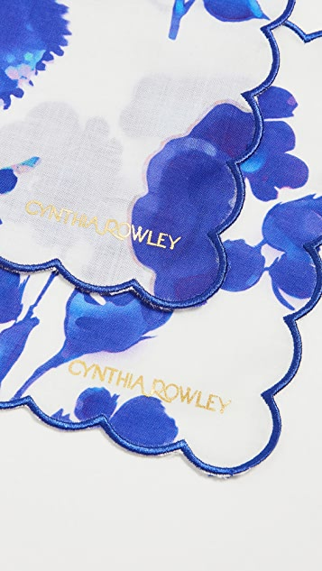 Cynthia Rowley Scallop Embroidered Edge Cocktail Napkins
