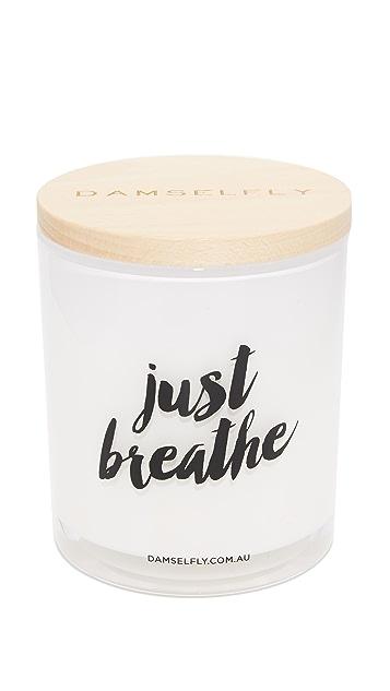 Damselfly Just Breathe XL Candle