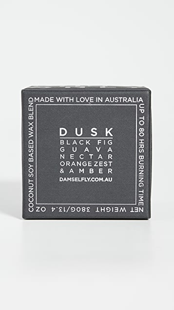 Damselfly Good Vibes Only - Deboss Candle Black Dusk