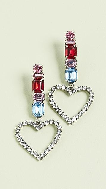 DANNIJO 红宝石心形耳环
