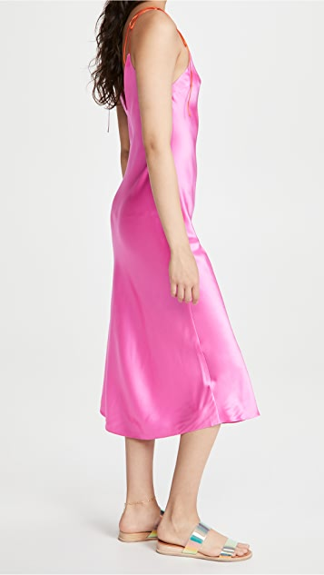 DANNIJO Tie Strap Midi Dress