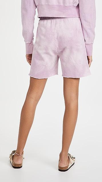DANNIJO Tie Dye Shorts with Beaded Drawstring