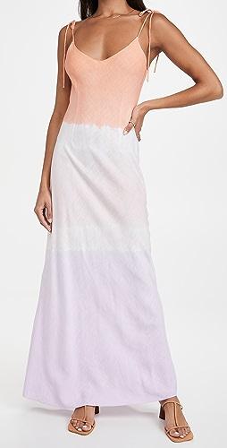 DANNIJO - Ombre Linen Tie Strap Dress