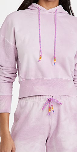 DANNIJO - Cropped Hoodie with Beaded Drawstring