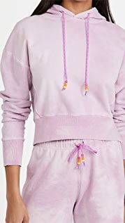 DANNIJO Cropped Hoodie with Beaded Drawstring
