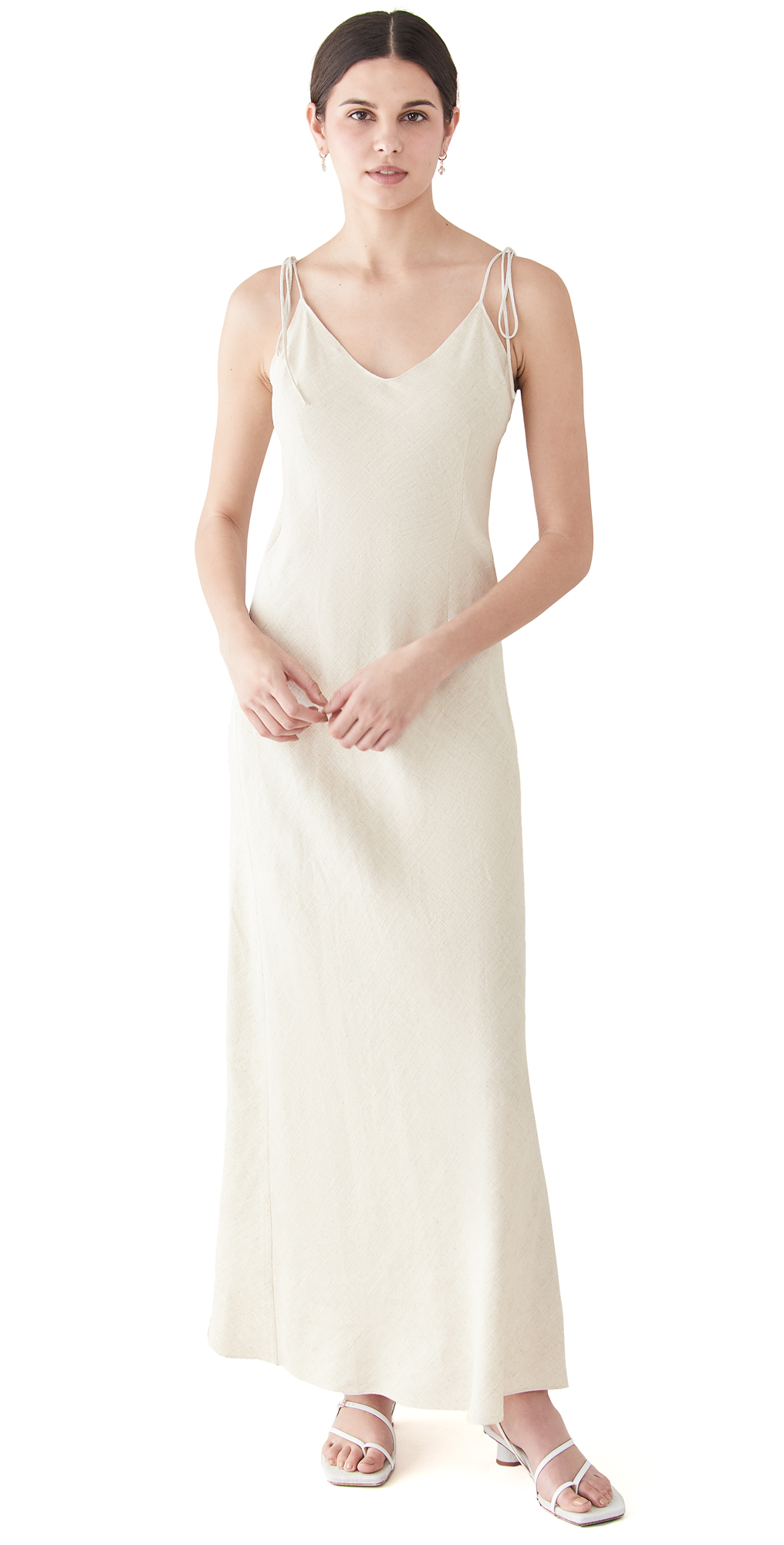 Linen Tie Strap Dress