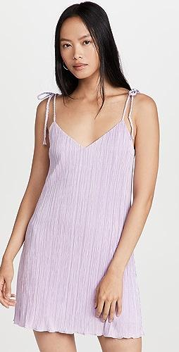 DANNIJO - Mini Pleated Tie Strap Slip Dress