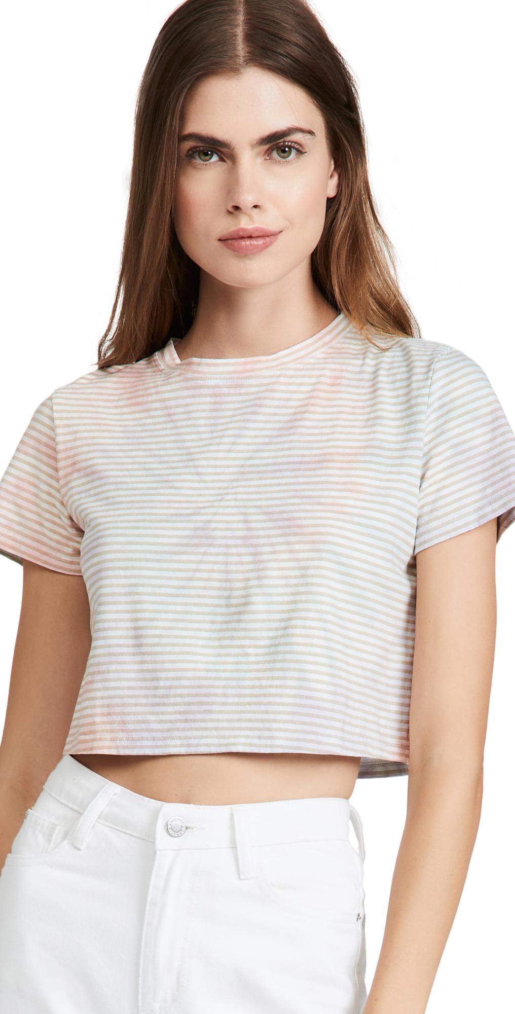 Cropped Knit T-Shirt