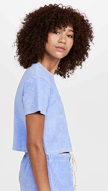 DANNIJO Cropped Terry Cloth Tee