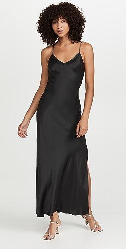 DANNIJO - Crystal Strap Silk Dress
