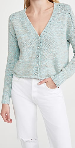 DANNIJO - Cropped Cardigan with Pearlescent Buttons