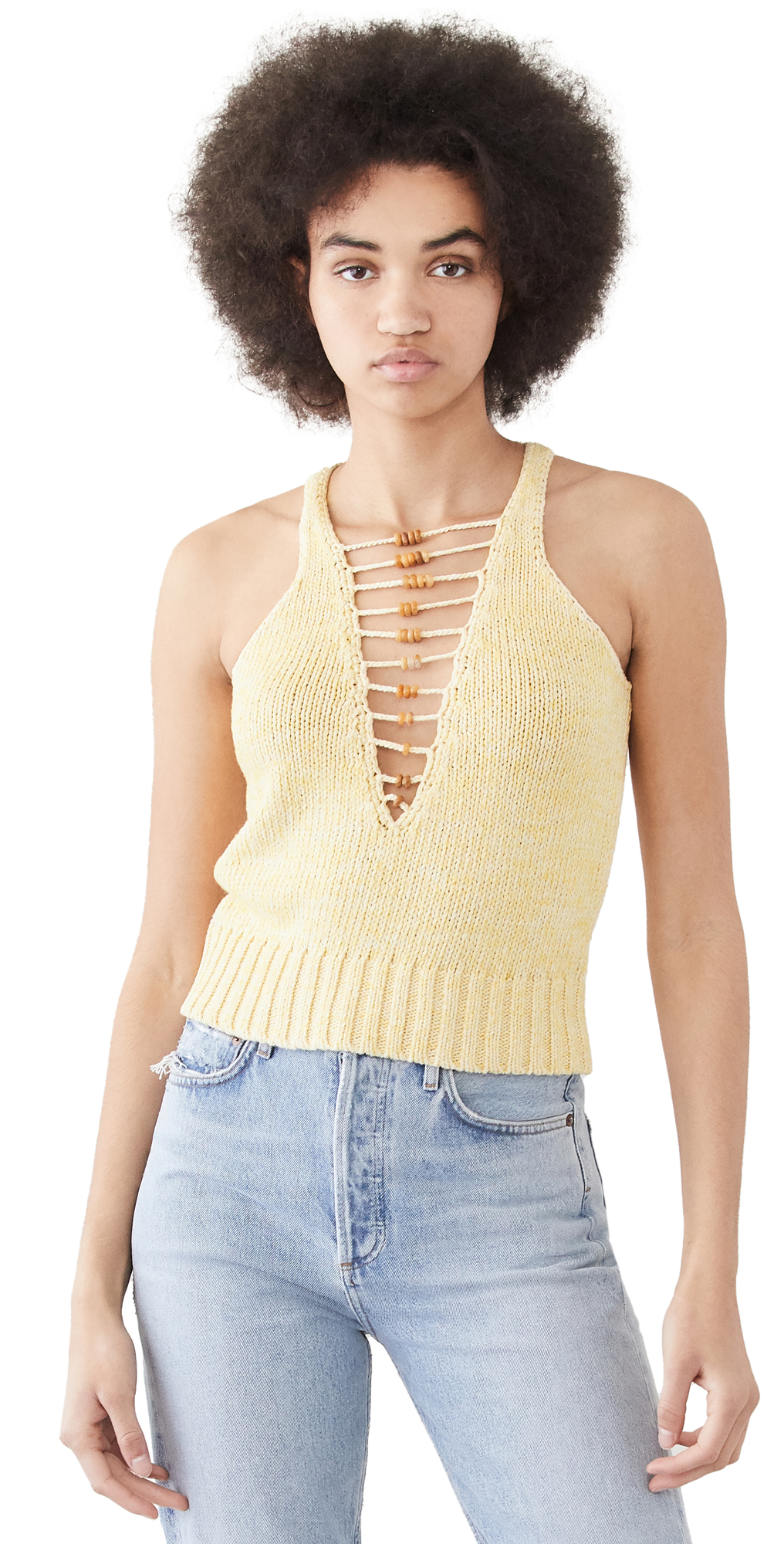 Cotton Crochet Beaded Tank