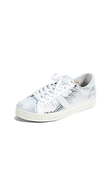 D.A.T.E. Hill Pong Laminated Sneakers