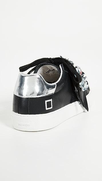 D.A.T.E. Newman Black Strap Sneakers