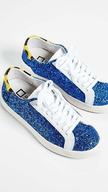 D.A.T.E. Hill Glitter Sneakers