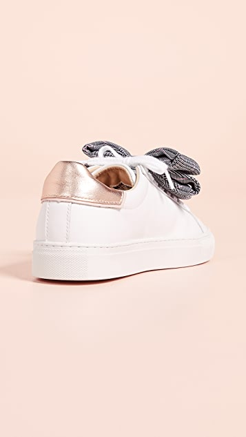 D.A.T.E. Newman Bow Check Sneakers