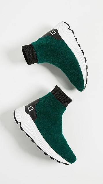 D.A.T.E. Dafne Fur Sneakers