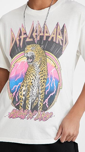 Daydreamer 威豹乐队图案 T 恤