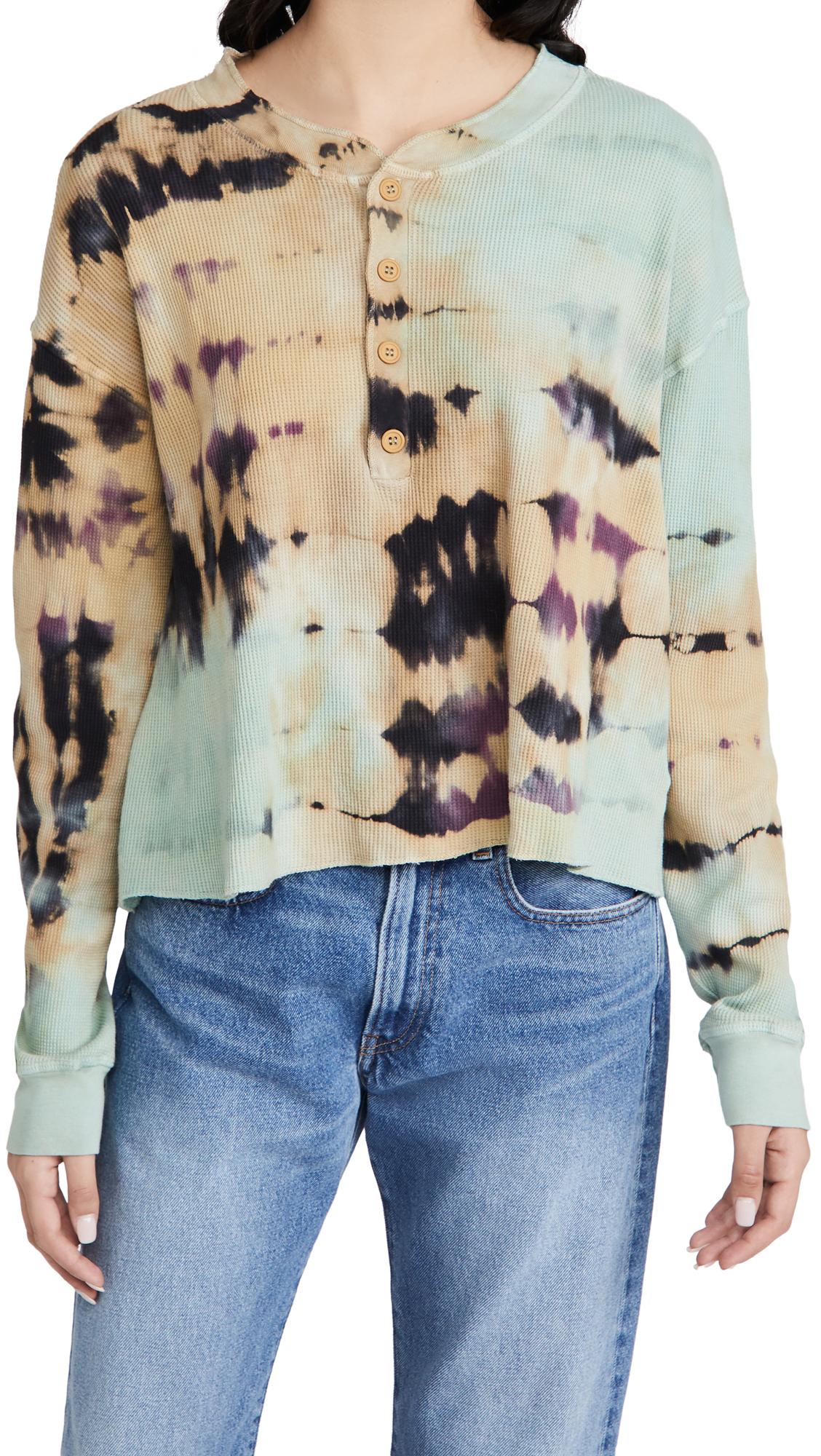Daydreamer Clothing TIE DYE THERMAL HENLEY