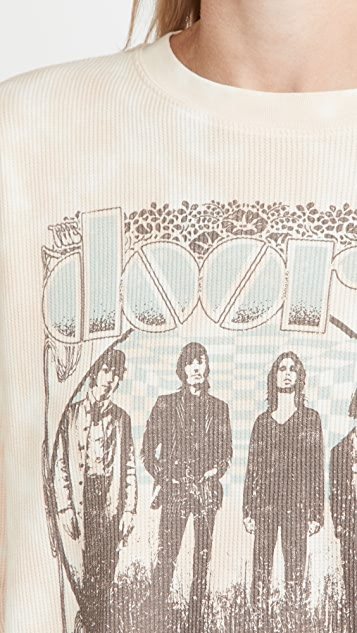Daydreamer The Doors 1968 Cropped Thermal Tee