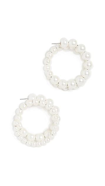 Diana Broussard Pearl Medium Loop Earrings