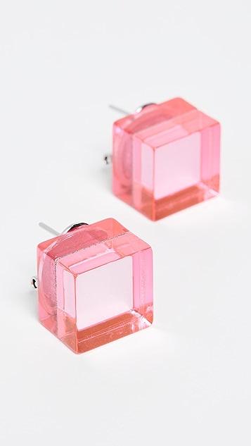 Diana Broussard Specchio Cube Earrings