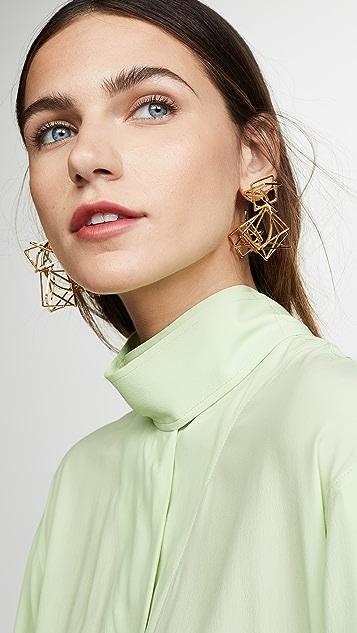 Diana Broussard Multi Spacial Loop 圈式耳环