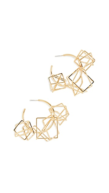 Diana Broussard Multi Spacial Loop Hoops